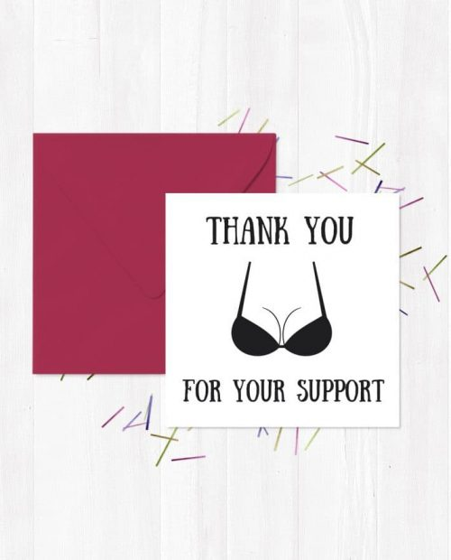 Thank You For Your Support Card