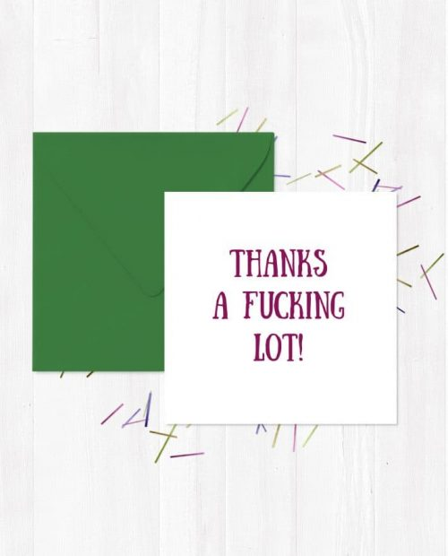 Thanks a fucking lot! Greetings Card