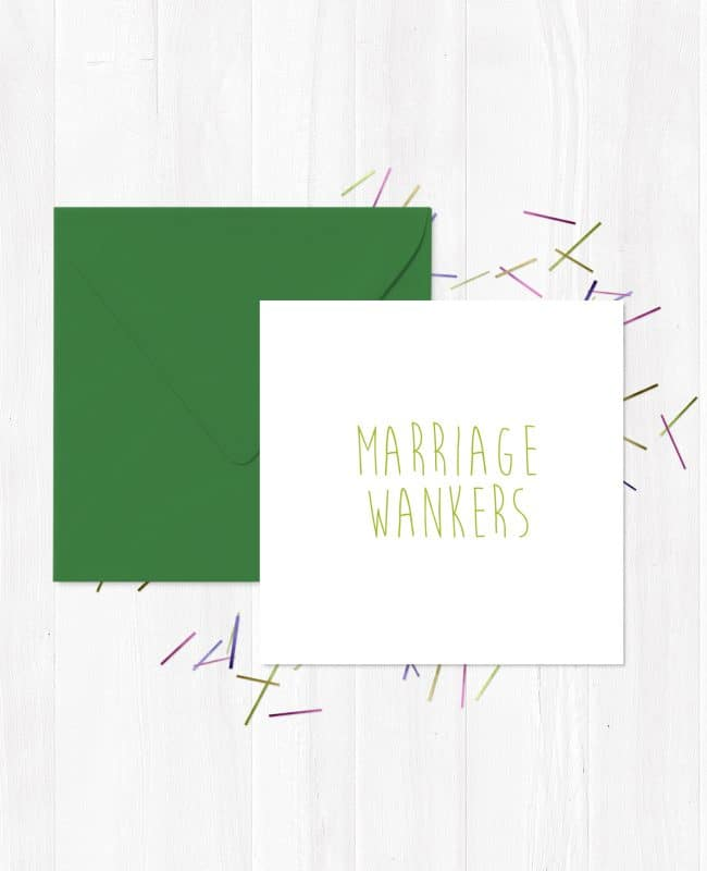 Marriage Wankers Greeting Card