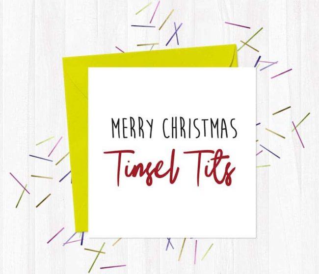 Merry Christmas Tinsel Tits – Christmas Card