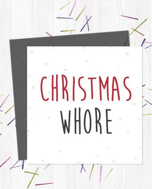 Christmas whore - Christmas Card