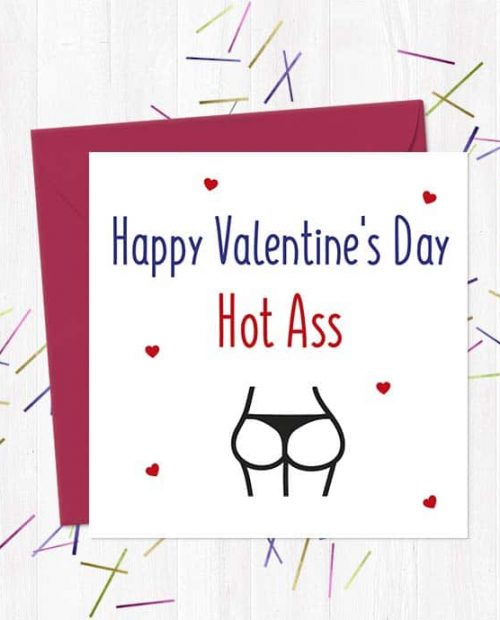 Happy Valentine's Day Hot Ass - Card