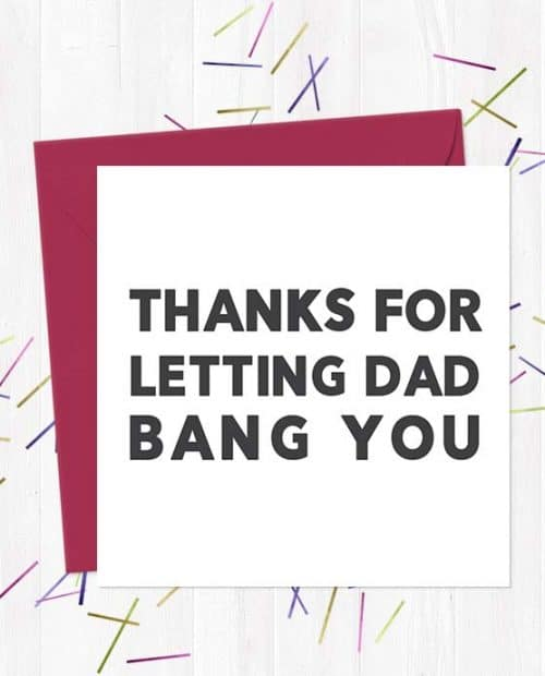 Thanks for letting Dad bang you
