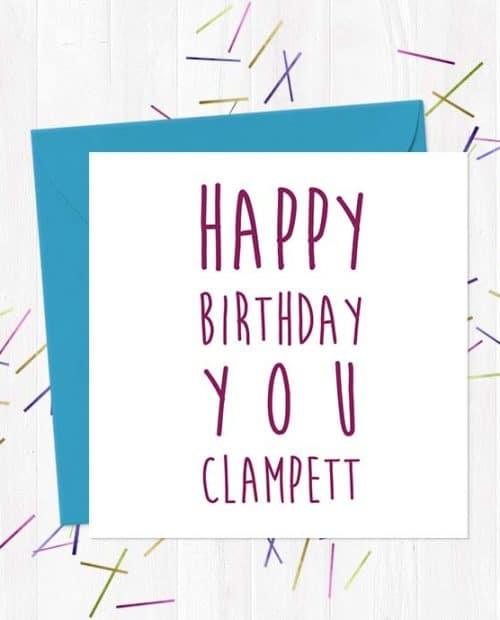 Happy Birthday You Clampett - Birthday Card