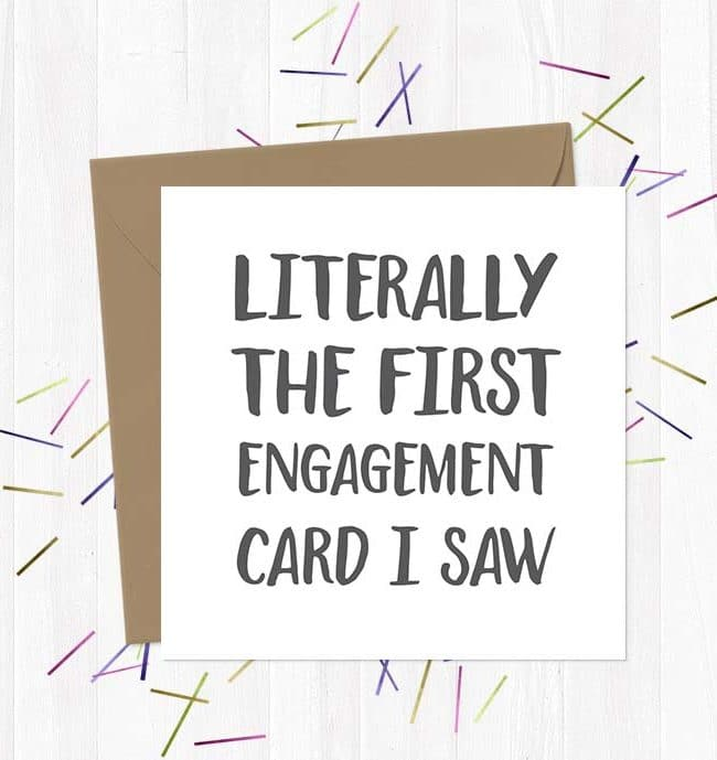 Literally the first engagement card I saw Wedding & Engagement Card