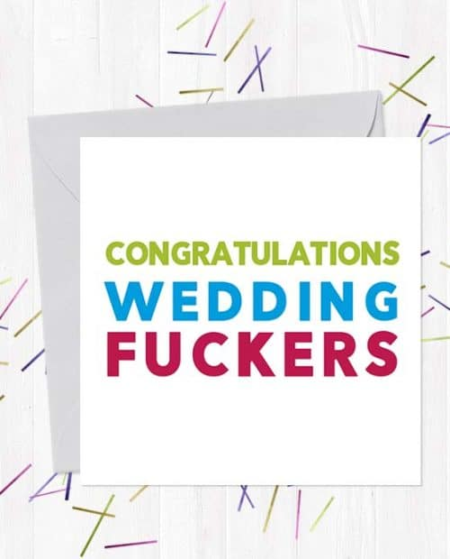 Congratulations Wedding Fuckers Wedding & Engagement Card