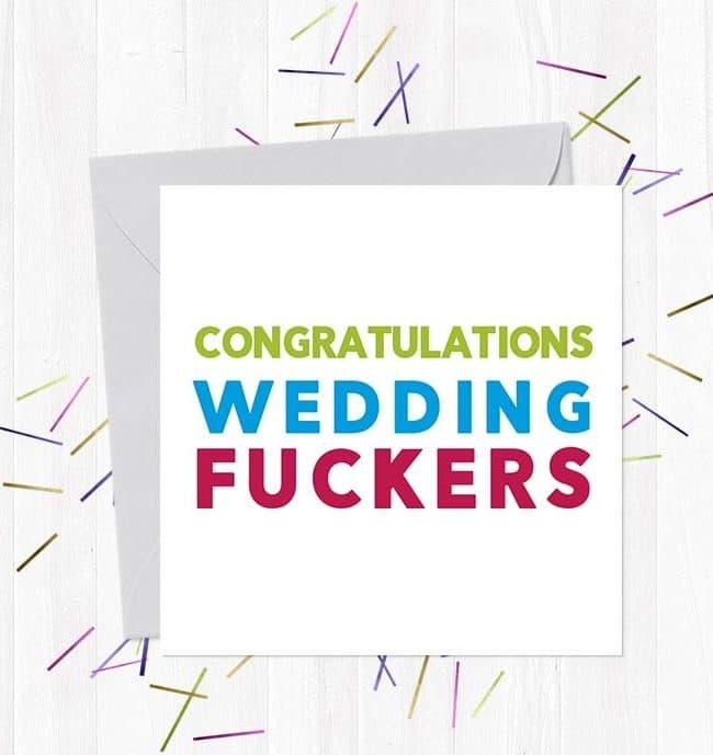 Congratulations Wedding Fuckers Wedding & Engagement Card