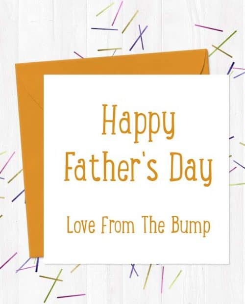 Happy Father's Day Love From The Bump - Father's Day Card